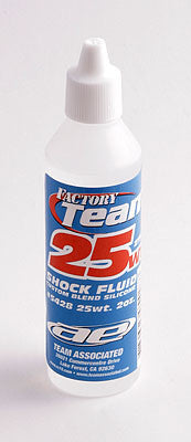 TEAM ASSOCIATED FACTORY TEAM 25WT SILICONE SHOCK OIL 2 OZ , Shock oil - Team Associated, Fastlaphobby.com LLC