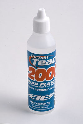 TEAM ASSOCIATED FACTORY TEAM SILICONE DIFF FLUID 2000CST , Diff Oil - Team Associated, Fastlaphobby.com LLC