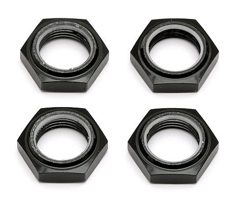 TEAM ASSOCIATED RC/SC8 17MM NYLOC WHEEL NUTS, BLACK , Wheel nuts - Team Associated, Fastlaphobby.com LLC