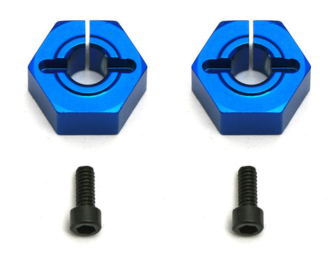 TEAM ASSOCIATED 12MM ALUMINUM CLAMPING WHEEL HEX, SC10 FRONT - Fast Lap Hobby