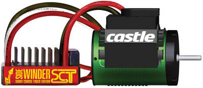 CASTLE CREATIONS WATERPROOF SIDEWINDER SCT COMBO WITH 1410-3800KV MOTOR , Speed Controler/motor - Castle Creations, Fastlaphobby.com LLC