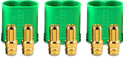 CASTLE CREATIONS 6.5 MM POLARIZED CONNECTORS MALE MULTI-PACK , Connectors - Castle Creations, Fastlaphobby.com LLC