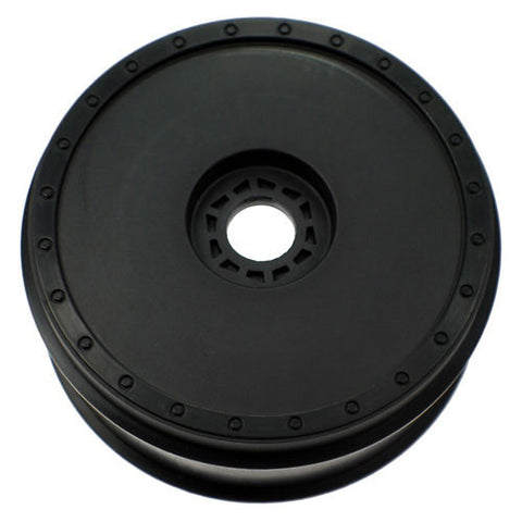 DE RACING BORREGO 8 - 1/8TH SCALE BUGGY WHEEL / BLACK (4) , 1/8 Buggy wheels - DE Racing, Fastlaphobby.com LLC