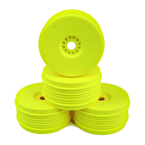 DE RACING SPEEDLINE PLUS BUGGY WHEELS FOR 1/8 BUGGY - YELLOW , 1/8 Buggy wheels - DE Racing, Fastlaphobby.com LLC