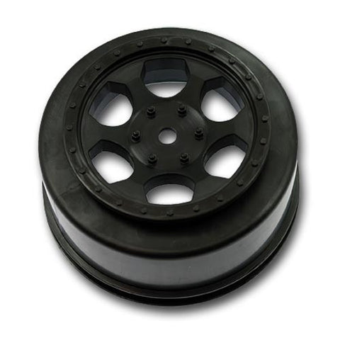 DE RACING TRINIDAD SC WHEELS FOR TEAM ASSOCIATED SC10 4X4 - BLACK , SCT wheels - DE Racing, Fastlaphobby.com LLC