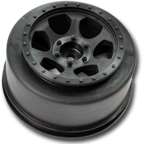 DE Racing Trinidad SC Rear Wheels (1 pair - Black) (Slash/Blitz/Ultima/SCRT 10) , Short Course Wheels - DE Racing, Fastlaphobby.com LLC  - 1