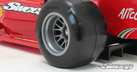 SWEEP RACING 1/10 F1 REAR TIRE SET F104 V2 SUPER SOFT , F1 Tire and Wheel Pre-glued - Sweep Racing, Fastlaphobby.com LLC  - 1