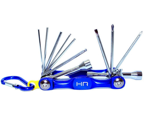 HOT RACING FOLD-UP POCKET TOOL - 12PC - METRIC , Multi-Tool - Hot Racing, Fastlaphobby.com LLC