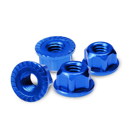 JCONCEPTS 4MM LOCKING WHEEL NUT - BLUE , Wheel nuts - JConcepts, Fastlaphobby.com LLC