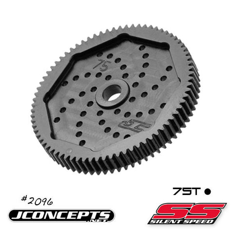 JCONCEPTS 48 PITCH, 75T, SILENT SPEED MACHINED SPUR GEAR , Spur gear - JConcepts, Fastlaphobby.com LLC