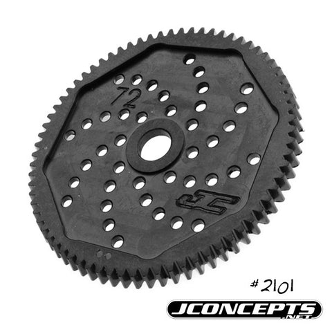 JCONCEPTS 48 PITCH, 72T, SILENT SPEED MACHINED SPUR GEAR , Spur Gear - JConcepts, Fastlaphobby.com LLC