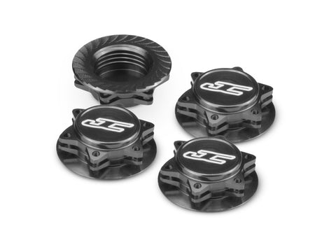 JCONCEPTS FIN 1/8 SERRATED WHEEL NUTS - BLACK , Wheel nuts - JConcepts, Fastlaphobby.com LLC