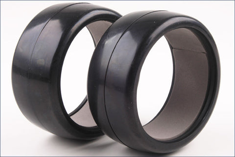 Kyosho 1/8 GT KC SLICK TIRES W/ INNER FOAMS - 45 Shore - ( 2 PCS ) , 1/8 On road slick tire - Kyosho, Fastlaphobby.com LLC