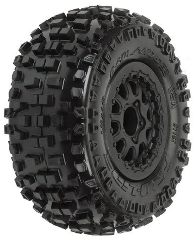 "PRO-LINE BADLANDS SC 2.2""/3.0"" M2 TIRES (2) MTD ON RENEGADE BLK WHEELS , Short Course Tires - Pre-mounted - Pro-Line, Fastlaphobby.com LLC  - 1"