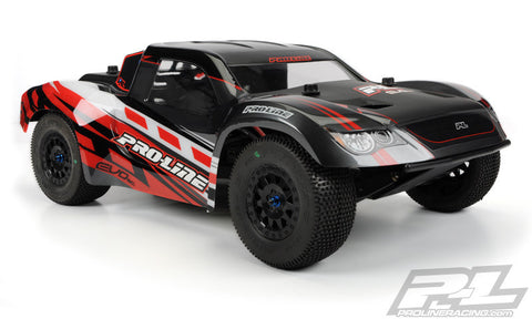 PRO-LINE EVO SC CLEAR BODY FOR SLASH 4X4, SC10, SC10 4X4, 22-SCT, XXX-SCT, TEN-SCTE, ULTIMA SC , Short Course Bodies - Pro-Line, Fastlaphobby.com LLC  - 1
