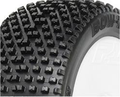 PRO-LINE BOW TIE 2.0 X3 (SOFT) OFF ROAD 1/8 BUGGY TIRES ON LIGHTWEIGHT VELOCITY WHITE WHEELS , 1/8 buggy wheels & Tires combo - Pro-Line, Fastlaphobby.com LLC  - 1