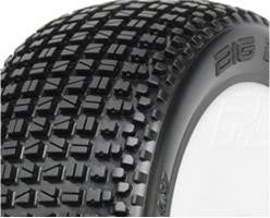 PRO-LINE BIG BLOX X3 (SOFT) OFF ROAD 1/8 BUGGY TIRES MNTD ON LIGHTWEIGHT VELOCITY WHITE WHEELS F/R - 2 , 1/8 buggy wheels & Tires combo - Pro-Line, Fastlaphobby.com LLC