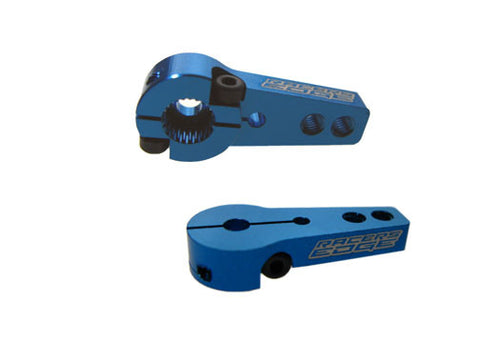 RACERS EDGE ALUMINUM PRO CLAMPING SERVO HORN - SINGLE SIDE (24 SPLINE) - HITEC (BLUE) , Servo Horn - Racers Edge, Fastlaphobby.com LLC