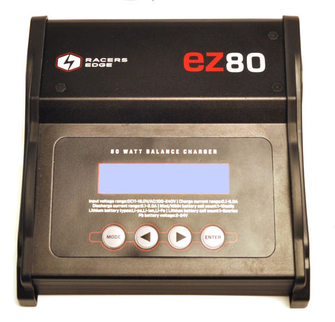 RACERS EDGE EZ80 AC/DC 80W MULTI-CHEMISTRY CHARGER , Charger - Racers Edge, Fastlaphobby.com LLC