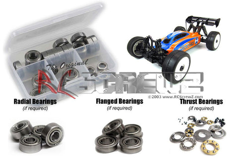 RC SCREWZ SHIELDED BEARING KIT FOR TEKNO RC EB48 BUGGY , Bearings - RC Screwz, Fastlaphobby.com LLC