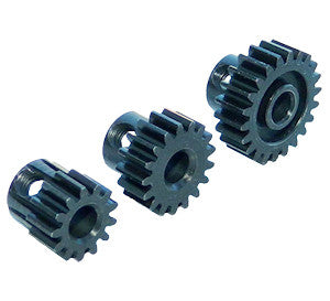 ROBINSON RACING EXTRA HARD 16 TOOTH BLACKENED STEEL 32P PINION 5M/M , pinions - Robinson racing, Fastlaphobby.com LLC