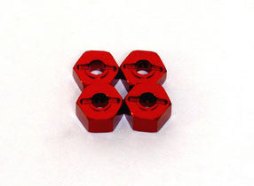 ST RACING CONCEPTS 12MM CLAMP WHEEL HEX ADAPTER - RED , Wheel Hex - ST Racing Concepts, Fastlaphobby.com LLC