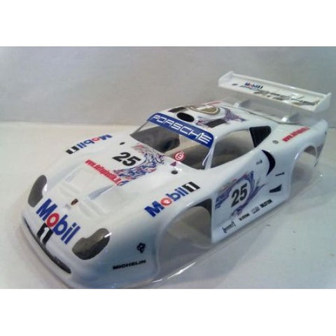 DELTA PLASTIK USA PORSCHE 911 GT1 EVO 1/8 BODY , 1/8 GT On Road Car Body - Delta Plastik USA, Fastlaphobby.com LLC
