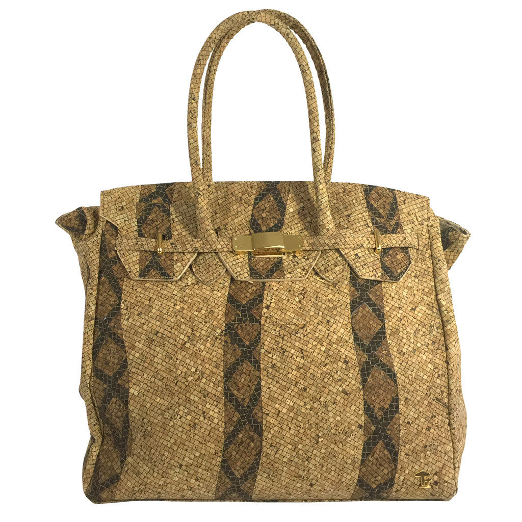 Princess Grace, Snake Handbag - Cork