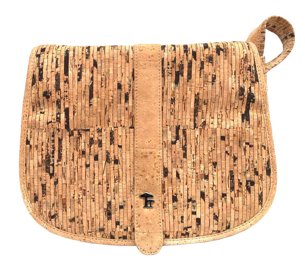Saddlebag, Crocodile/Natural - Cork