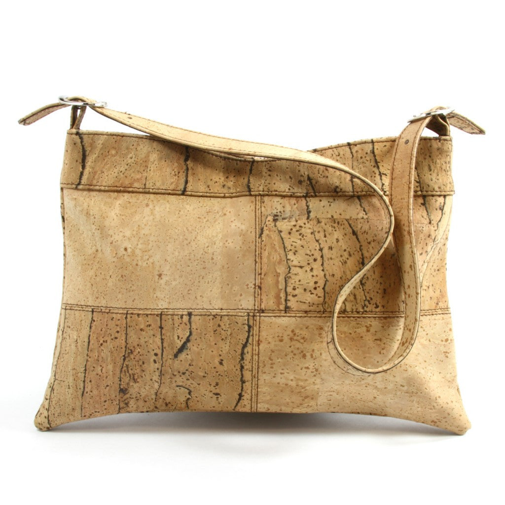 Four Square, Zebra/Natural Shoulderbag - Cork