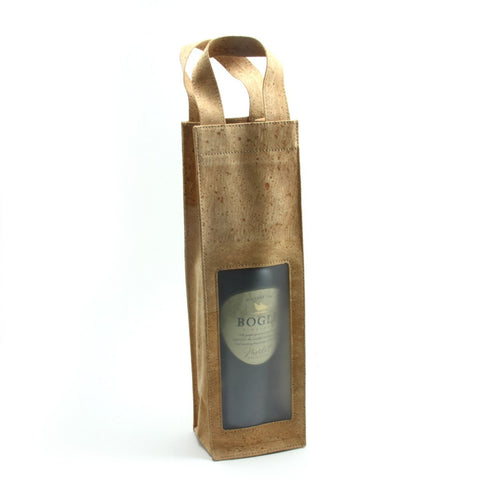 Wine Bag with window, Blond