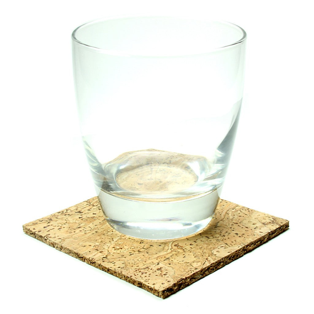 Coaster, Burl, Set of 4 - Cork