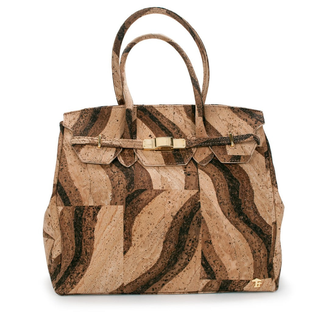 Princess Grace, Bengal Tiger Handbag - Cork
