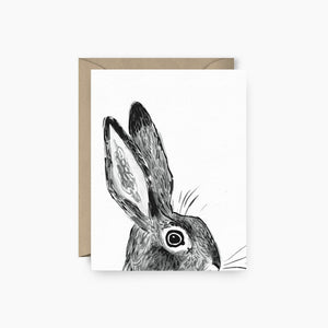 B&W Rabbit Card