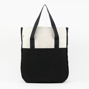 Black and White Utility Tall Tote