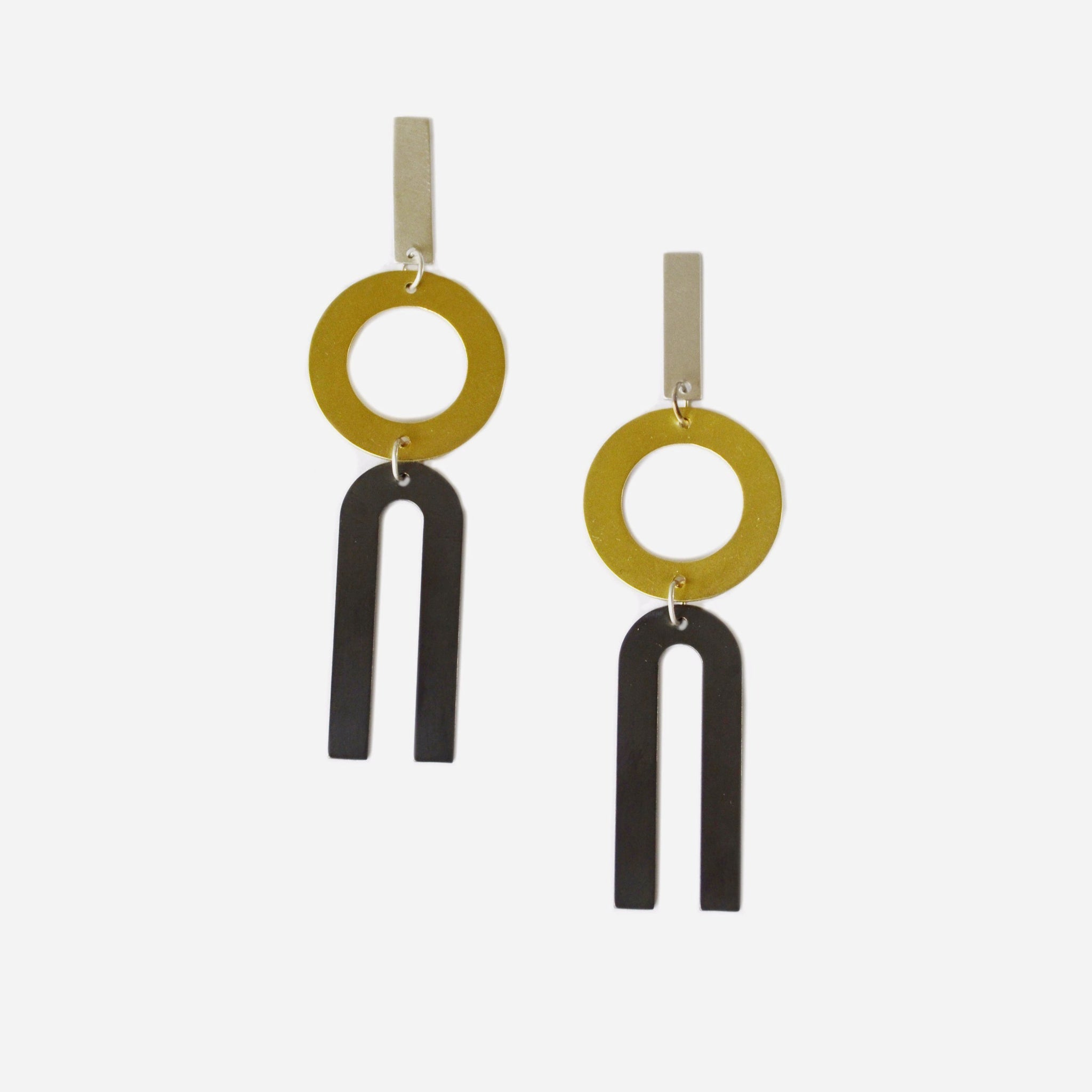 Divided Line Earrings