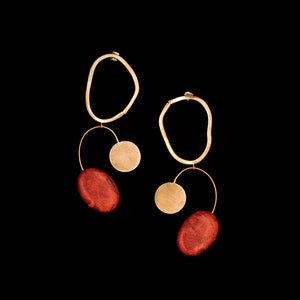 Coral Bilanx Earrings