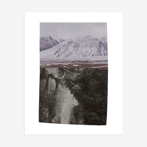 """There was a mountain beneath the one you knew"" print"
