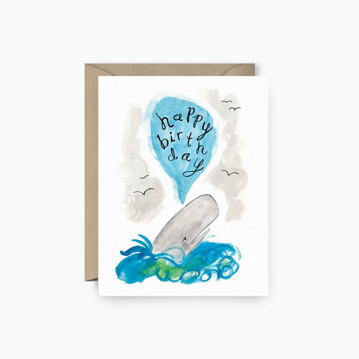 Whale Happy Birthday Card