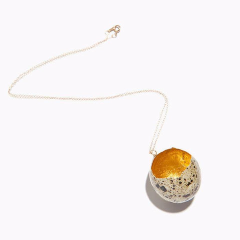 Golden Egg Necklace