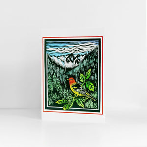 Western Tanager Holiday Cards