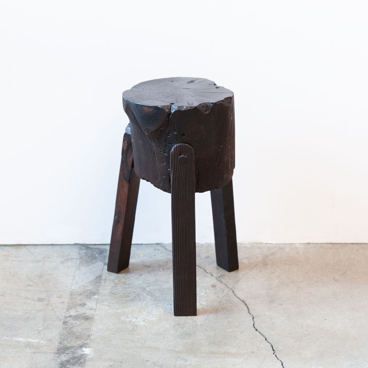 Shou Sugi Ban Stool - Medium