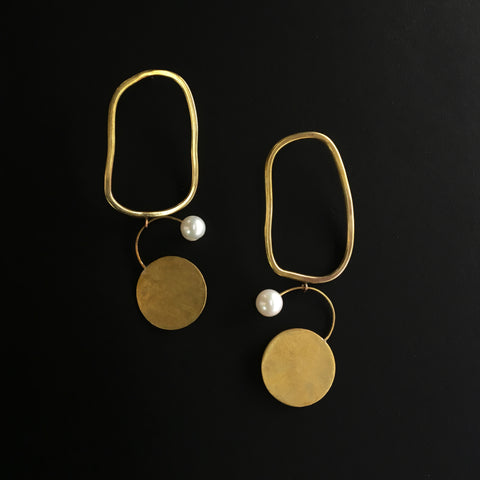 Large Bilanx Dangle Earrings