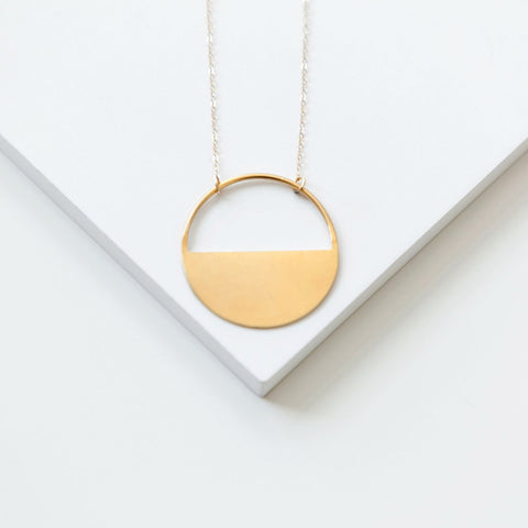 Half-Open Circle Necklace