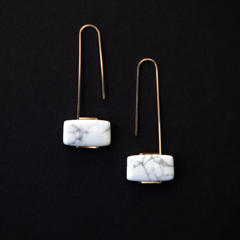 Howlite Marcel Earrings