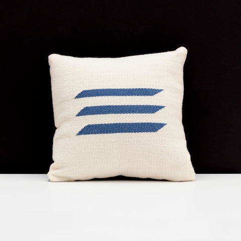 Blue Triple Bar Pillow