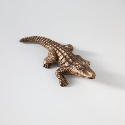 Alligator paperweight