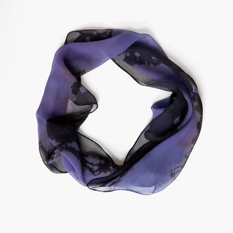 Purple Silk Chiffon Scarf