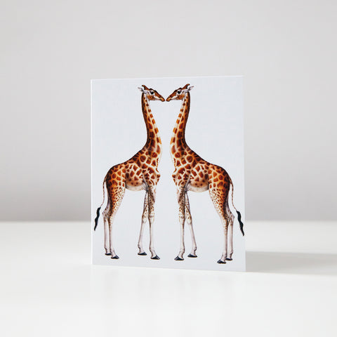 Giraffe Love Card