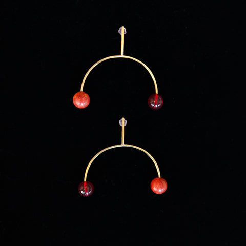 Wide Tune Fork Earrings